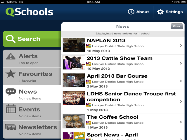 QSchools mobile app now with push notification
