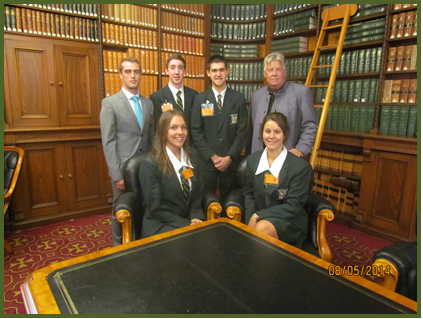 LDHS Student Leaders at Parliament House